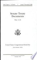 United States Congressional Serial Set, Serial No. 14810, Senate Treaty Documents Nos. 1-14