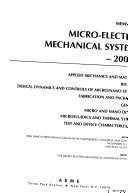 Microelectromechanical Systems Book PDF