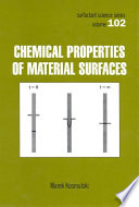 Chemical Properties of Material Surfaces Book