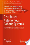 Distributed Autonomous Robotic Systems Book