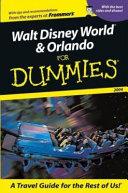 Walt Disney World   Orlando For Dummies 2004