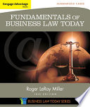 Cengage Advantage Books Fundamentals Of Business Law Today Summarized Cases Book