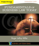 Cengage Advantage Books  Fundamentals of Business Law Today  Summarized Cases