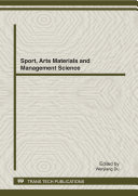 Sport, Arts Materials and Management Science Pdf/ePub eBook