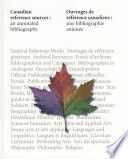 Canadian Reference Sources Book