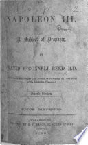 Napoleon III  a subject of prophecy     Second edition   With an autograph letter by the author