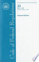 Code Of Federal Regulations Title 32 National Defense Pt 1 190 Revised As Of July 1 2010
