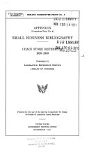 Appendix  committee print no  4  small business bibliography
