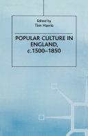 Popular Culture in England, c- 1500–1850 Pdf/ePub eBook