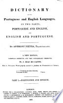 A Dictionary Of The Portuguese And English Languages In Two Parts