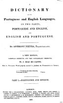 A Dictionary of the Portuguese and English Languages, in Two Parts