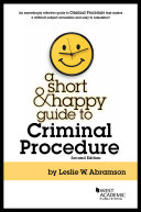 A Short and Happy Guide to Criminal Procedure - Seite i
