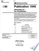 Information for Tax Practitioners