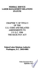 The Federal Service Labor Management Relations Statute