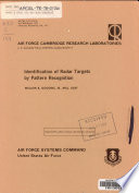 Identification of Radar Targets by Pattern Recognition
