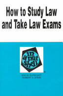 How to Study Law and Take Law Exams in a Nutshell