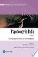 Psychology In India Volume I Basic Psychological Processes And Human Development
