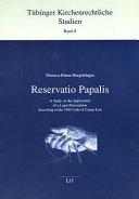 Reservatio Papalis