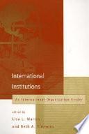 International Institutions