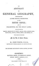An abstract of general geography Book