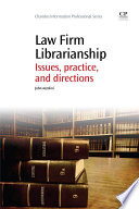 Law Firm Librarianship Book