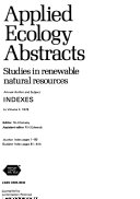 Applied Ecology Abstracts