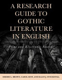 A Research Guide To Gothic Fiction In English