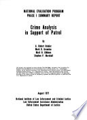 Crime Analysis in Support of Patrol