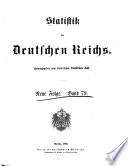 Statistik des Deutschen Reichs ...