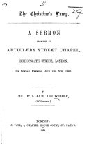 The Christian's Lamp. A Sermon Preached ... on Sunday Evening, July the 5th, 1863