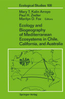Ecology and Biogeography of Mediterranean Ecosystems in Chile, California, and Australia [Pdf/ePub] eBook