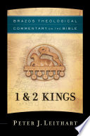 1 2 Kings Brazos Theological Commentary On The Bible
