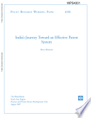 India's Journey Toward an Effective Patent System