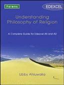Understanding Philosophy of Religion: Edexcel Teacher's Support Book