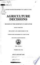 Agriculture Decisions;