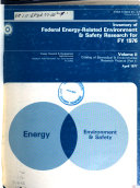 Inventory of Federal Energy related Environment and Safety Research for FY 1976  Executive summary