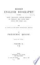 Modern English Biography