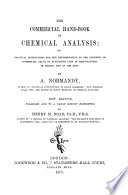 The Commercial Hand book of Chemical Analysis Book
