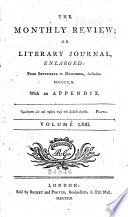 The Monthly Review  Or  Literary Journal Book