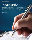 Forensic Handwriting Identification Book