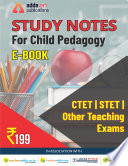 Study Notes For Child Pedagogy Ctet Stet Other Teaching Exams Ebook In English
