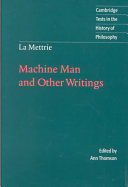 La Mettrie: Machine Man and Other Writings