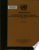 Bibliography on the World's Subsea Mineral Resources and Related Geological and Geophysical Studies (1960-1972)