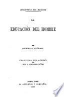 La educación del hombre