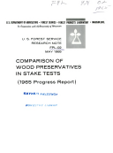 Comparison of wood preservatives in stake tests