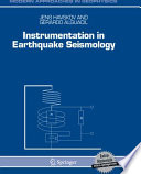 Instrumentation In Earthquake Seismology Book PDF