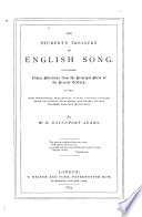 The Student's Treasury of English Song