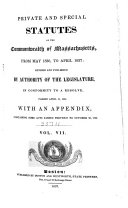Private and Special Statutes of the Commonwealth of ...