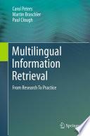 Multilingual Information Retrieval Book