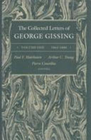 The Collected Letters of George Gissing  1863 1880